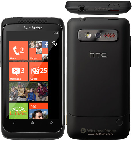 HTC TROPHY qwerty front view
